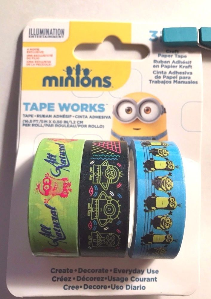 Minions Washi Tape Tapeworks Assortment 3 Spools #TapeWorks