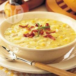 sweetcorn and chicken chowder - curl up on an armchair dinner