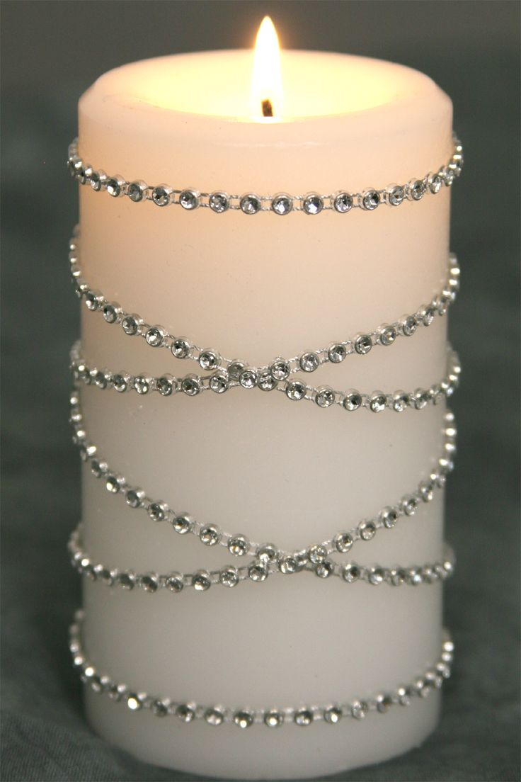 """Diamond Wrap Rolls - SILVER Single Row, 60 ft Long! 1/8"""" Beads - Trimmable!"""