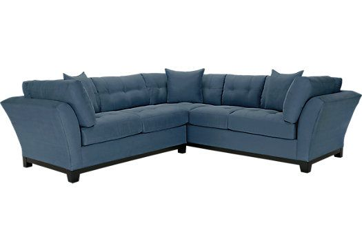 picture of Cindy Crawford Home Metropolis Indigo 2 Pc Sectional from Sectionals Furniture