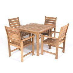 Buy Greenfingers Barossa Balau 4 Armchair 90cm Square Outdoor Set at Guaranteed Cheapest Prices with Rapid Delivery available now at Greenfingers.com, the UK's #1 Garden Furniture Store
