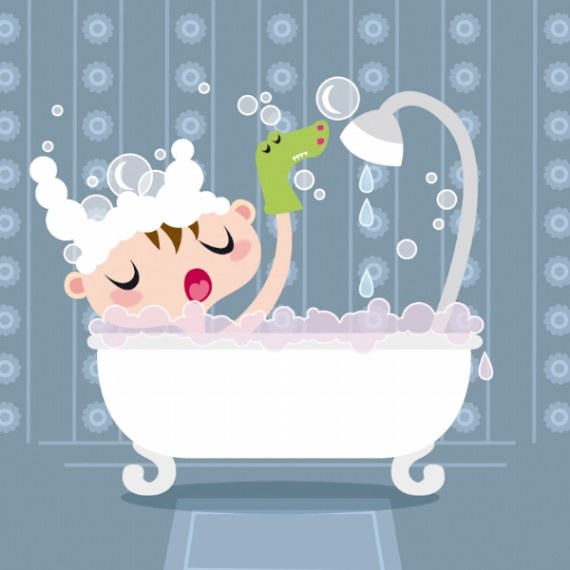 Too cute!  Babies love bath time!  Bath Time for my babies! # baby bubbles Castletime Health.