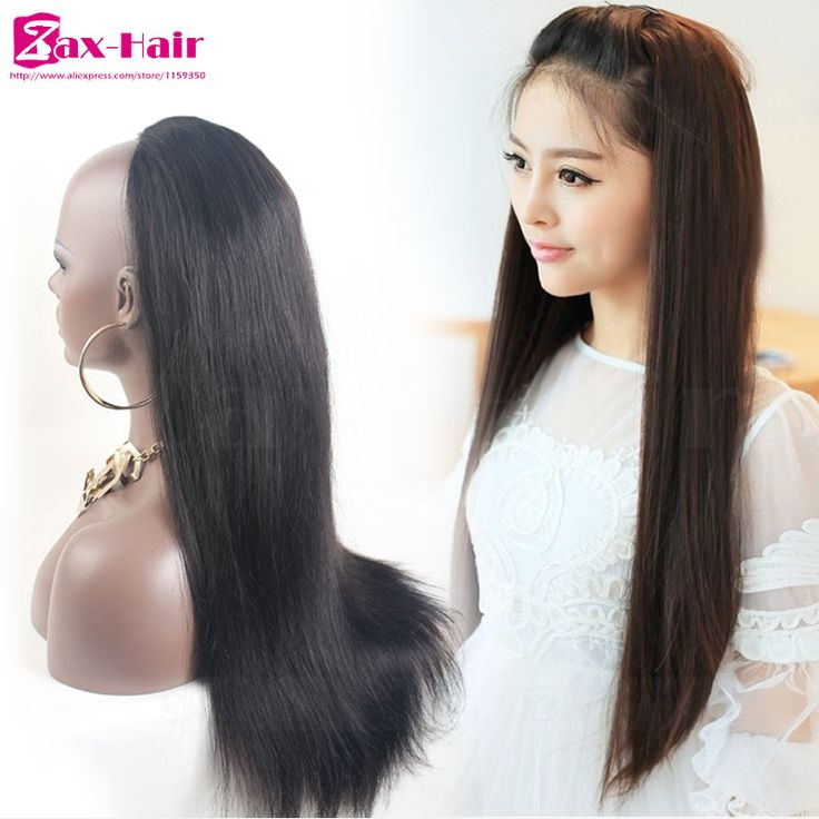 8 best 34 half wig extensions images on pinterest extensions cheap human hair half wigs customized clip 34 half wig for black hair straight pmusecretfo Image collections