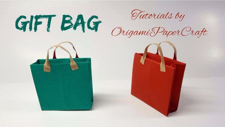 How to make a GIFT BAG Origami 🛍️ Tutorial By OrigamiPaperCraft 🛍️