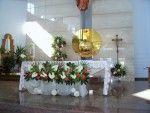 kompozycje kwiatowe, florystyka, kompozycje, kwiaty, anturium, kompozycje na ołtarz, kompozycje kwiatowe w kościele