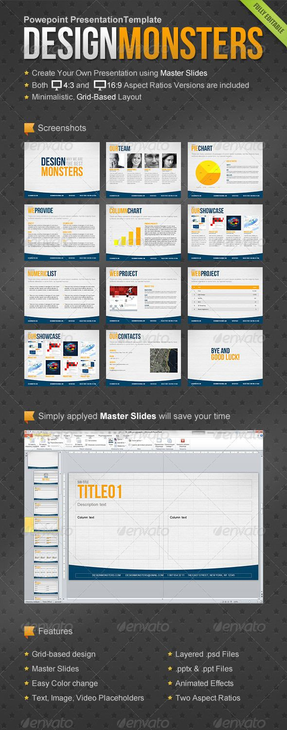 DesignMonsters Powerpoint Presentation Template