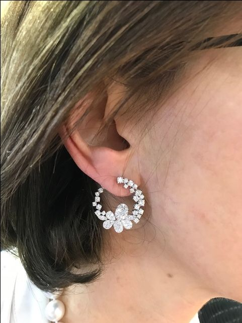Esther Fortunoff tried on these sensational earrings during #JewelryWeek in Las Vegas. What do you think? Not your cup of tea? Click here for lots more!