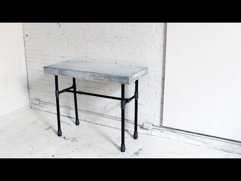 HomeMade Modern EP40 Concrete + Iron Side Table