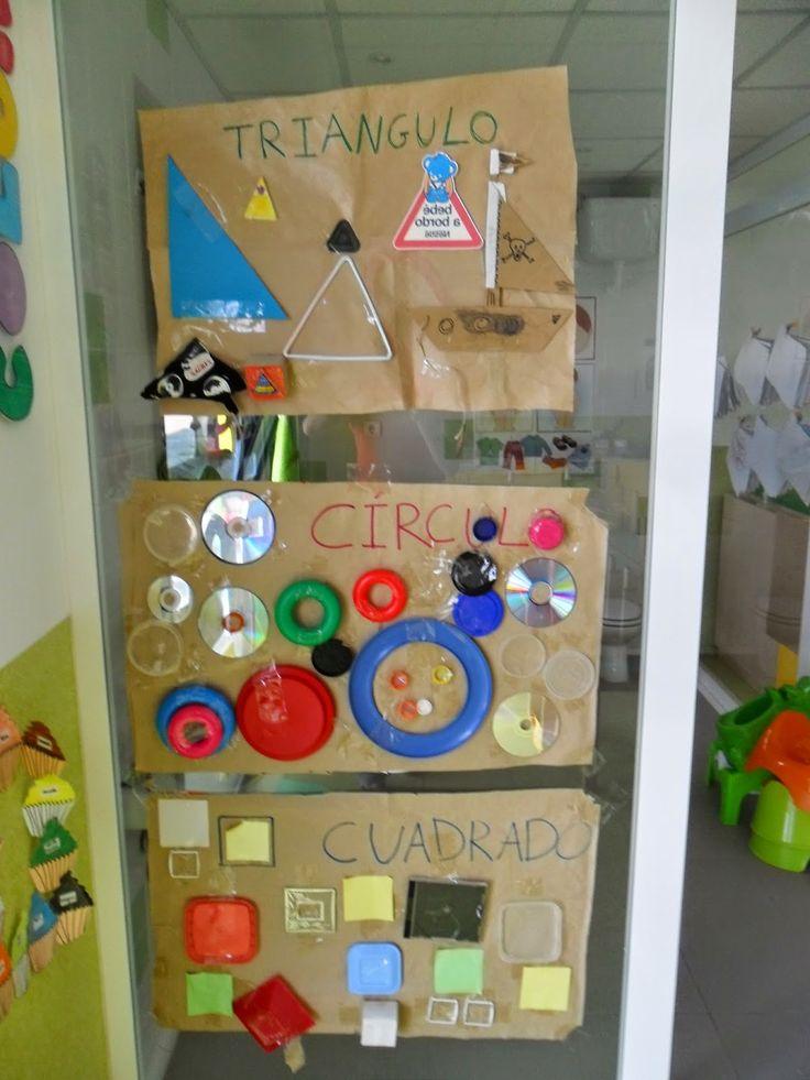 Materiales para Educación Infantil: MURAL FIGURAS GEOMÉTRICAS