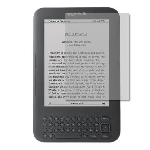 """Skinomi TechSkin - Screen Protector Shield for the Amazon Kindle Keyboard 6"""" E Ink Display + Lifetime Warranty by Skinomi. $5.89. This kit includes: Skinomi film for your device, installation squeegee, application solution, detailed instructions, and Lifetime Replacements program.Skinomi TechSkin goes beyond traditional screen protectors, skins, covers, and cases. This protector is made from clear thermoplastic urethane film - the same film used to protect military aircrafts..."""