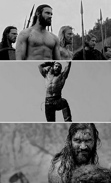 "Rollo Lothbrok  ::  Clive Standen  ::  Vikings..  When it's your time , fight with RUTHLESS ABANDON!"".. WH"