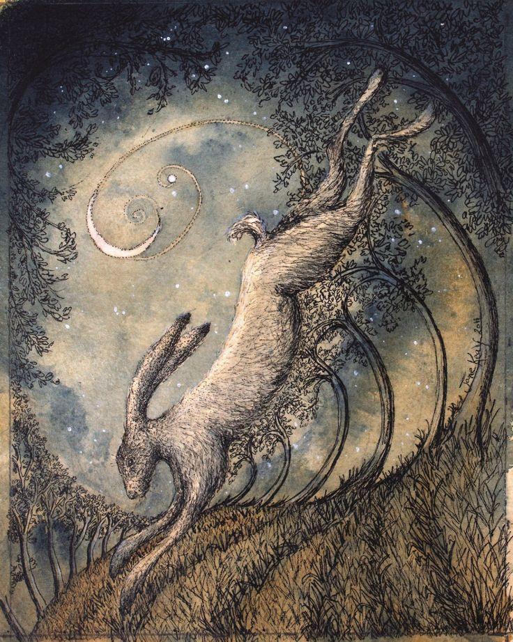 Scythe Moon by British artist Jane Keay