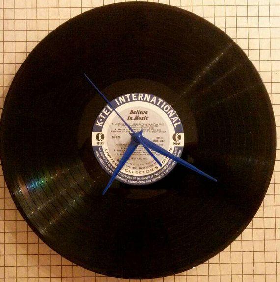 Records Vinyl Records Wall Clocks K-tel by atomicrocketpoplab