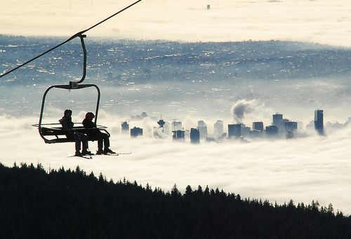 Skiing, Vancouver. What a view!