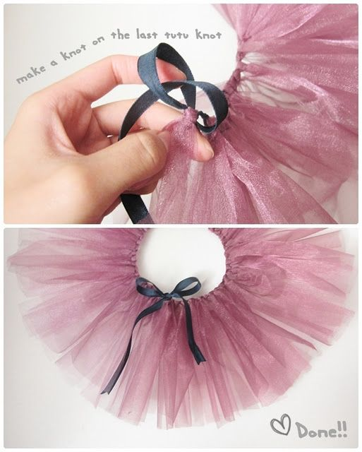 No-Sew Baby Tutu Tutorial