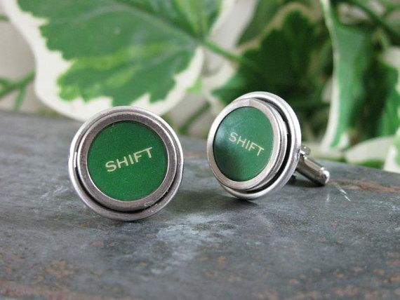"""Shift"" Typewriter Key Cufflinks"