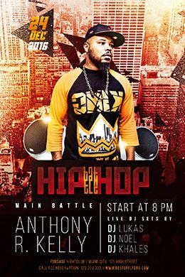 Hip-Hop Battle FREE PSD Flyer Template
