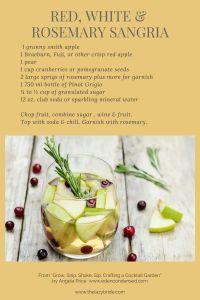 white sangria recipe, wedding cocktail