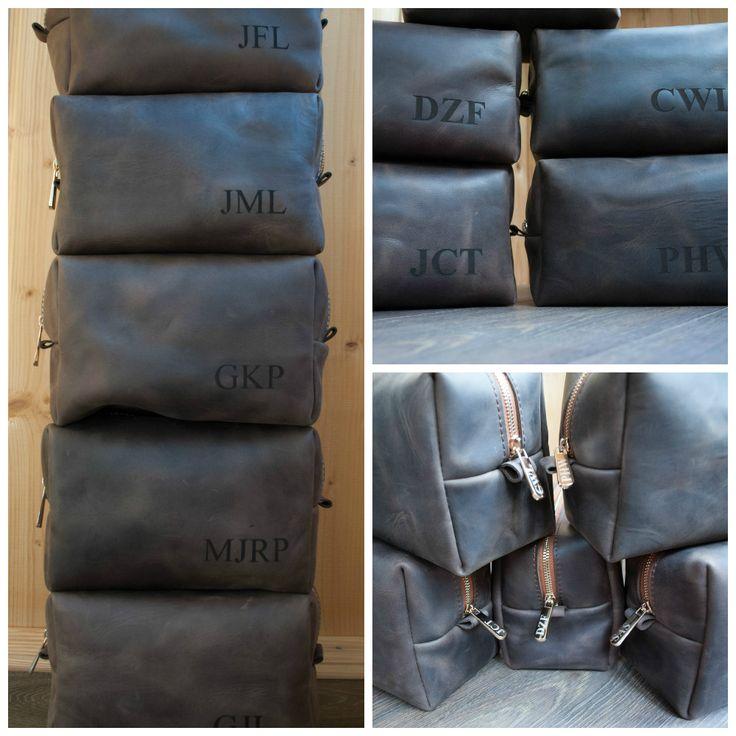 Handmade Leather Dopp Kit, Custom Groomsmen Gift, Leather Shaving Kit, Leather Toiletry Bag, Mens Toiletry Bag, Wedding Gifts, Monogram Gift
