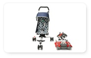 A backpack stroller is pretty genius, but no recline for a young baby.