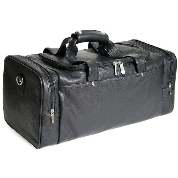 Royce Sports Travel Duffel Bag (455 CAD) ❤ liked on Polyvore featuring men's fashion, men's bags, black, men's duffel bags, mens leather travel bags, mens leather duffle bag, mens sports bags and mens leather duffle travel bag