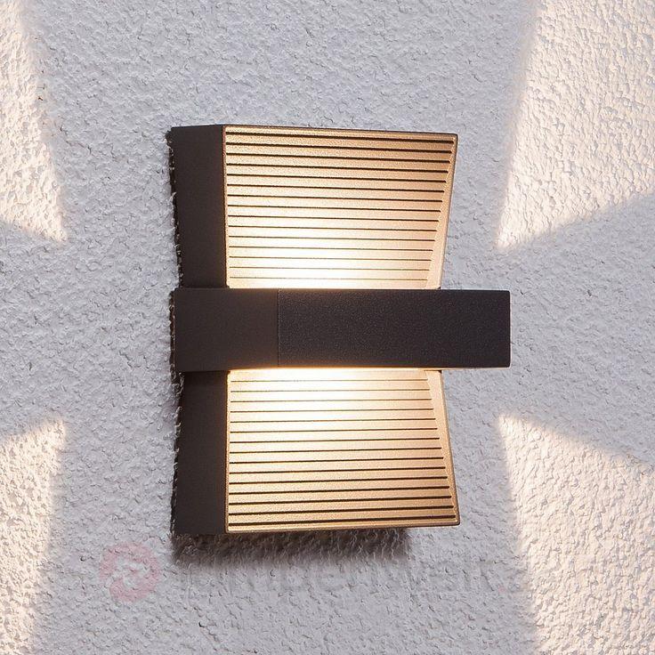 Außenwandleuchte Nika mit LED, grafitgrau 9616016