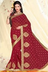 Luscious Red Saree - https://www.ethanica.com/products/luscious-red-saree