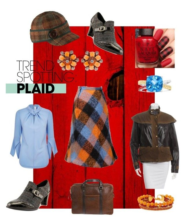 """""""plaid"""" by moestesoh ❤ liked on Polyvore featuring Barbour, Victoria Beckham, Overland Sheepskin Co., Karen Scott, Stormy Kromer, Henri Bendel, Effy Jewelry, contestentry and NYFWPlaid"""