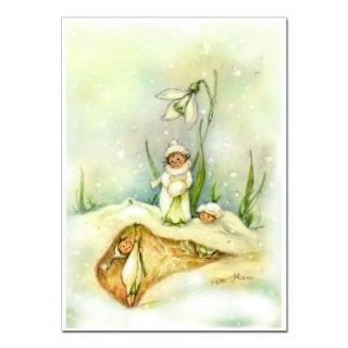 Zauberhafte Schneeglöckchenelfe --- Enchanting snowdrop pixy