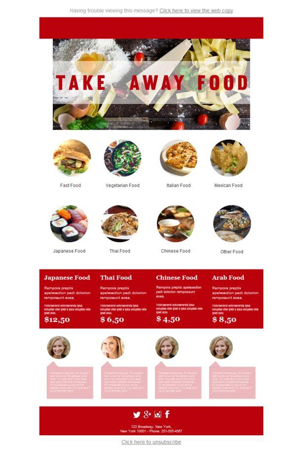 22 mejores imágenes de Restaurantes - Plantillas Newsletter en ...