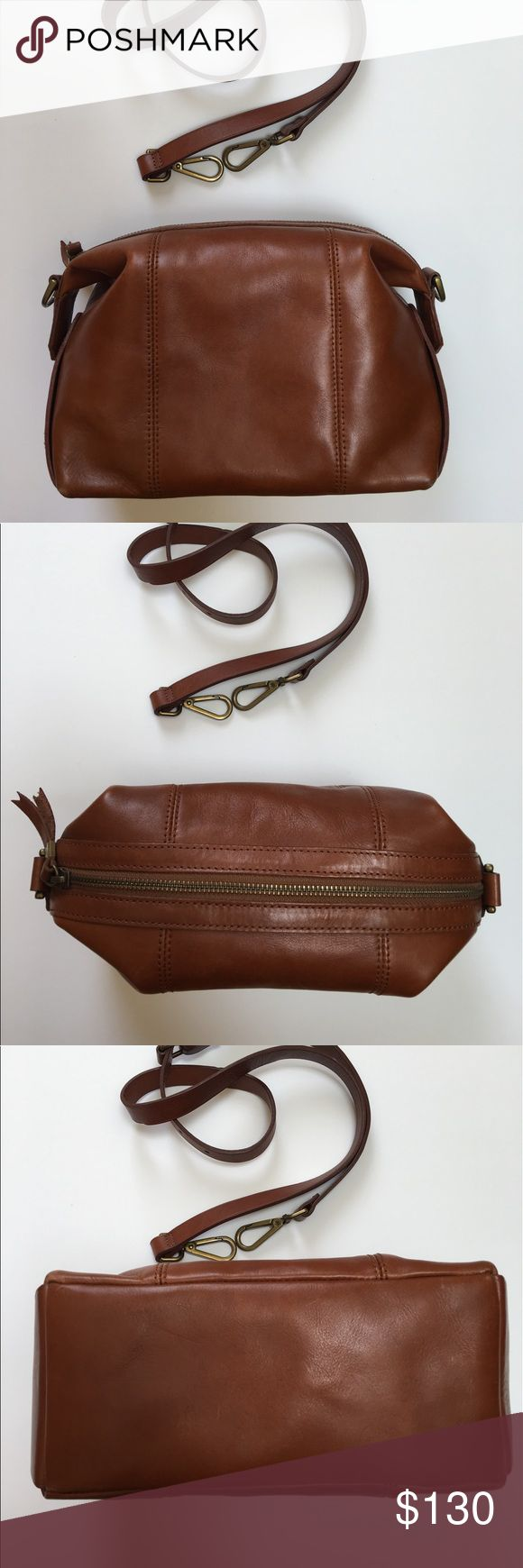 Madewell Mini Glasgow in English Saddle For sale is the Madewell Mini Glasgow in English Saddle. Great bag, I just don't use it! Leather is in immaculate condition. Inside is a little dirty - please see pictures. Still has that new leather smell! Madewell Bags Crossbody Bags