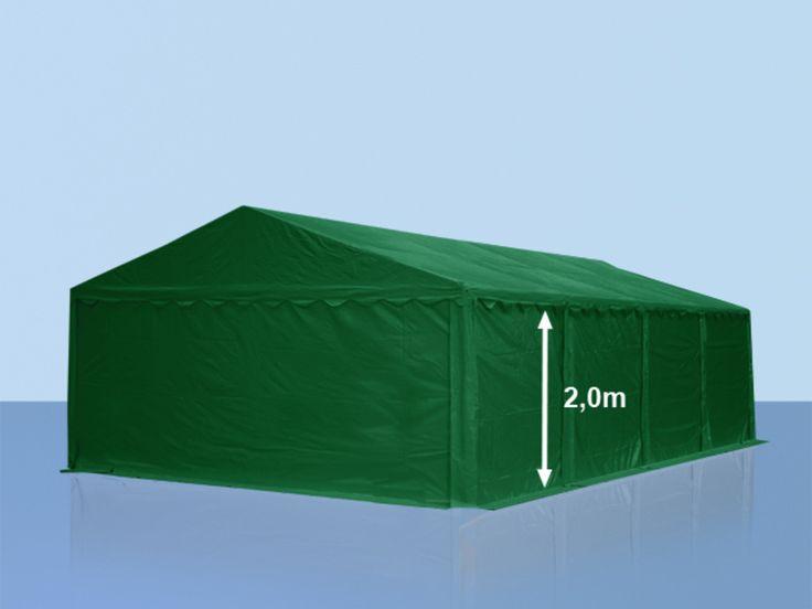 Lagerzelt 5x8m PVC dunkelgrün Unterstand, Lager