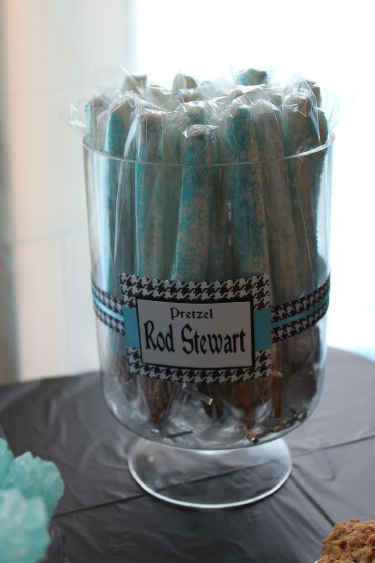 Rock-A-Bye Baby Shower foods with rock names.