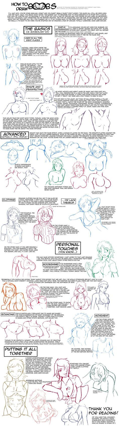 How to Draw Boobs by ragingtofu.deviantart.com had to lol but it might be useful to an artist out there:
