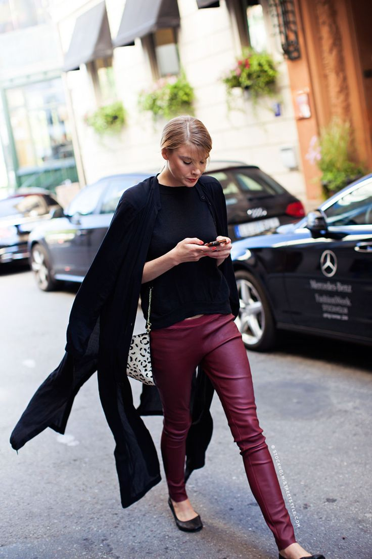 burgundy leather pants #OnlineShoes