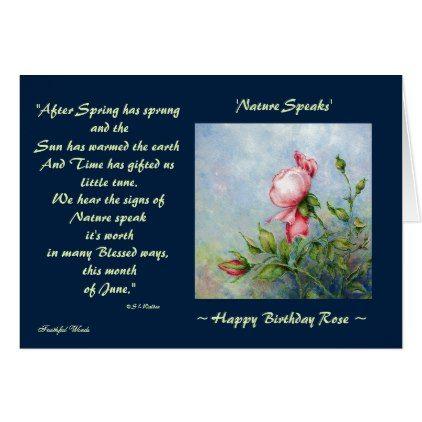 #Nature Speaks Poem Flower Art Birthday Template - #flower gifts floral flowers diy