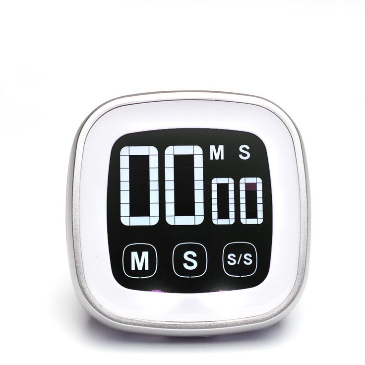 Free shipping, touch screen kitchen timer, liquid crystal display kitchen timer, alarm clock timer, magnetic kitchen timer