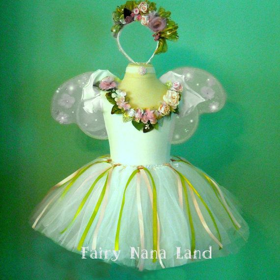 Fairy Costume  Monet's Garden Faerie  Flower Girl by FairyNanaLand, $85.00