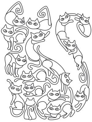 Cat o' Cats   Urban Threads: Unique and Awesome Embroidery Designs