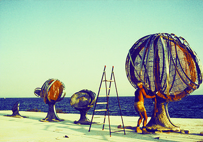 Greek sculptor Philolaos, Volos, Greece, 1986