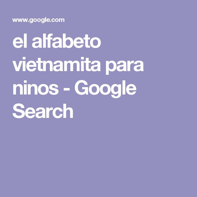 el alfabeto vietnamita para ninos - Google Search