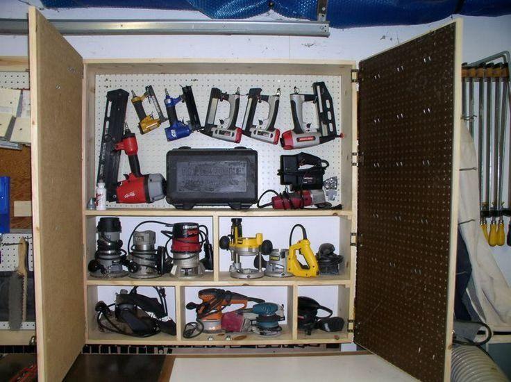 Storage Idea For Power Tools Build Pinterest Storage