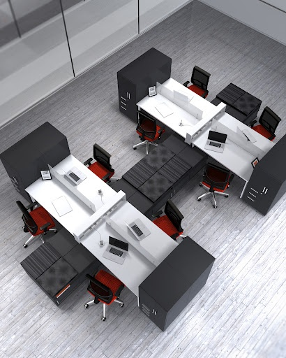 More and more of today's workplaces require a level of collaboration that panel systems just won't allow. Mayline's e5 delivers the space-saving footprint and expansive power capabilities of a panel solution in an environment that promotes interaction, without the isolating walls.
