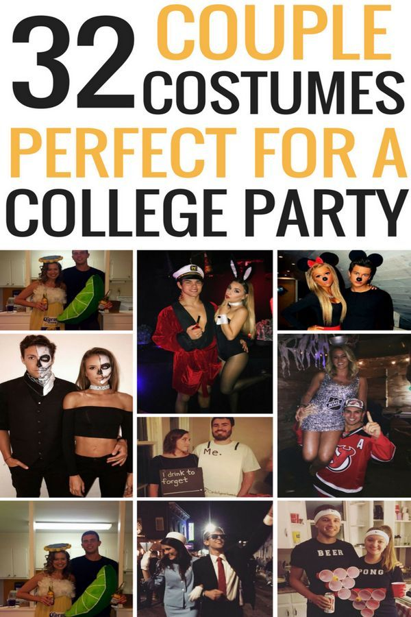 Easy Couple Halloween Costume Ideas 32 Easy Couple Costumes To Copy - best college halloween costume ideas