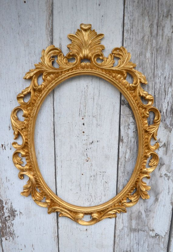 Oval Picture Frame Large Ornate Baroque Fancy Gold Portrait Wedding
