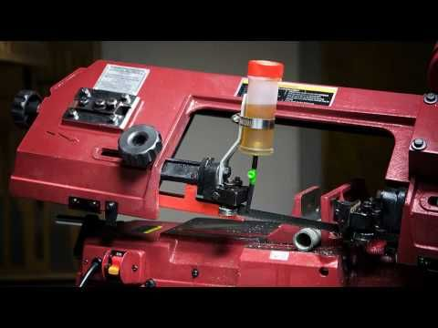 Simple Drip Oiler for a Horizontal Bandsaw - YouTube