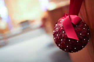 DIY Pomanders, #pomanders, #crafts, #paper, #papercraft, #decorations, #weddings, #balls: Christmas Crafts, Idea, Flower Ball, Flower Boards, Unique Pomand, Church Pew, Amber Flower, Pomand Ball, Diy Pomand