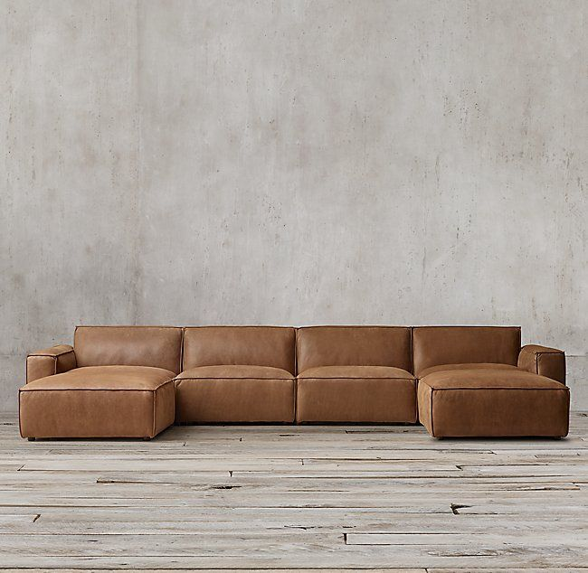 Como Modular Leather Customizable Sectional Leather Couches