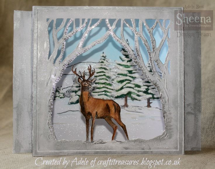Sheena Douglass Christmas Deer die frame from the Scenic winter Perfect partners collection