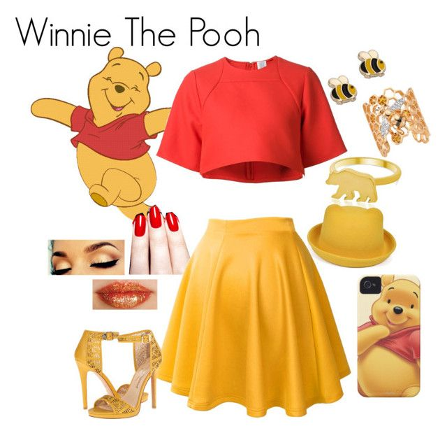 """""""Winnie honey style"""" by disneydreaminoutfiters on Polyvore featuring mode, Rosie Assoulin, George & Laurel, Bee Goddess, Nails Inc. et Vivienne Westwood"""
